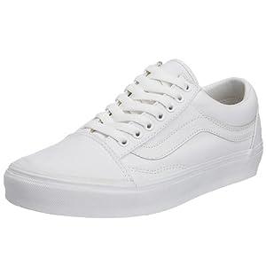 Vans Unisex Old Skool True White Skate Shoe 5 Men US / 6.5 Women US