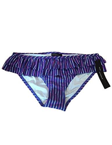 Marc by Marc Jacobs Womens Purple Blue Ruffled Swimsuit Bikini Bottom M