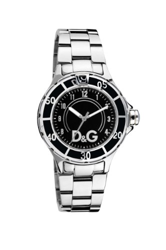 D & G DW0511 Anchor  Black Dial Stainless Steel Bracelet Watch