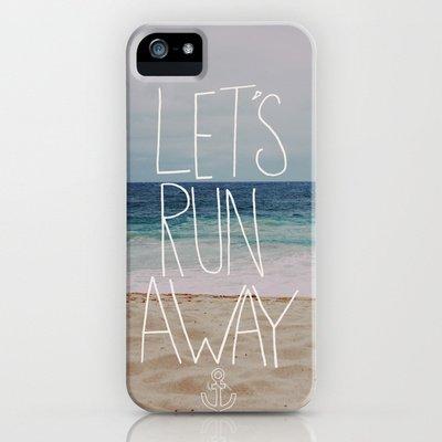 Society6/ソサエティシックス iphone5/5Sケース 海 ビーチ 砂浜 Let's_Run_Away