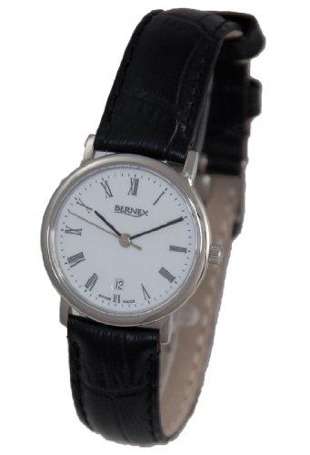 Bernex - Reloj de pulsera mujer, piel, color blanco