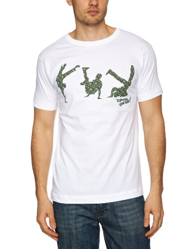 DMC Express Yourself Men's T-Shirt White/Green/Khaki Medium