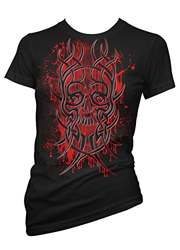 Fantasy RedSkull Tribal 702112-T-Shirt da donna nero Medium