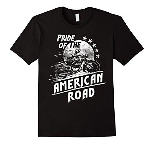 American Pride Custom Road Motorcycle Vintage Retro T-Shirt 0