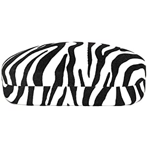 Hard Clamshell Case for Large Oversized Eyeglasses Sunglasses - Many Colors (Zebra-Velvet)