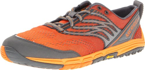 Merrell Women's Ascend Glove Trail Running Shoe,Orange,10 M US