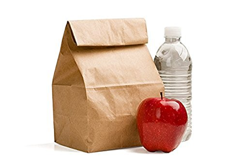 Green Direct GDLB-100 Perfect Brown Durable Paper Lunch Bag for All Ages (Pack of 100)