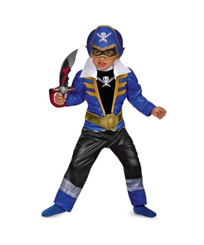 Boys Power Ranger Super Megaforce Blue Ranger Toddler Muscle Costume