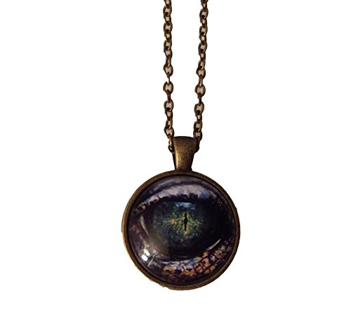 Dragon Eye Reptile Glass Carbochon Game of Thrones Inspired Pendant Necklace
