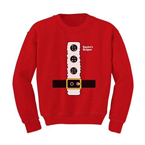 Teestars - Santa'S Little Helper Kids Sweatshirt 4T Red