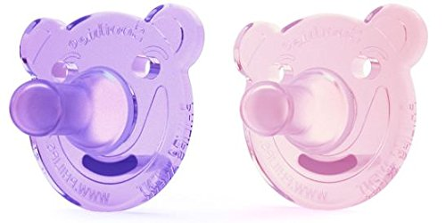Philips AVENT Soothie Bear Shape Pacifier, Pink/Purple, 0-3 Months, 2 Count (Bottle Sterilizer For Dishwasher compare prices)