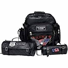 Wmu Diamond 3Pc Buffalo Leather Motorcycle Bag Set (Pack Of 1)