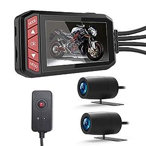 LANCERTECH バイク ドライブレコーダー 前後カメラ 2019最新版 2.7インチ液晶 1080P