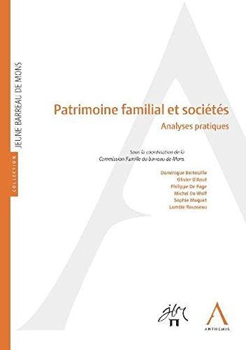 Patrimoine familial et sociétés : Analyses pratiques