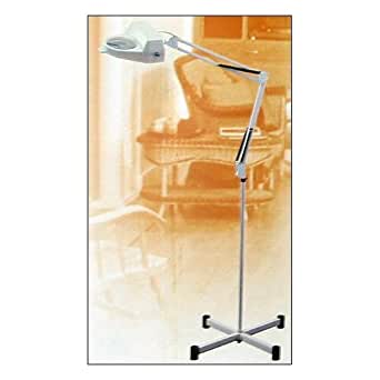 White Magnifier Lamp Magnifying Light with Floor Stand & Table Clamp