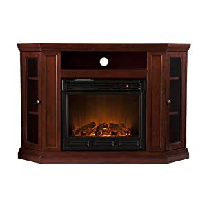 Sale Southern Enterprises Claremont Convertible Media Cherry Electric Fireplace Gel Fuel