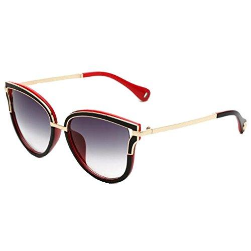 [T-Y women new fation Retro Color film Sunglasses 51mm] (Prescription Colored Contact Lenses)