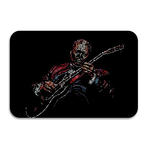 Digentiphe Non-slip Bb King Riley B Musician Guitar Blues 40*60cm Doormat White