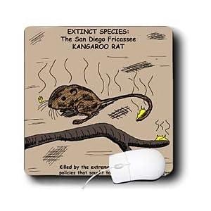 Rich Diesslins Funny General - Editorial Cartoons - San Diego Kangaroo Rat - Extinct - Mouse Pads