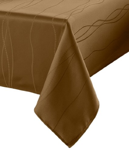 Benson mills gourmet spillproof fabric tablecloth linen for 120 inch table linens
