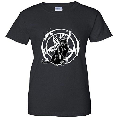 Pentagram Black Cat Women's T-Shirt
