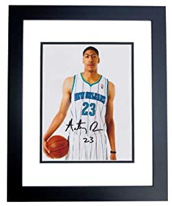 Anthony Davis Autographed Hand Signed New Orleans Hornets 8x10 Photo - BLACK CUSTOM... by Real+Deal+Memorabilia