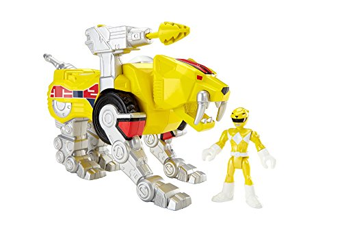 Fisher-Price Imaginext Yellow Ranger and Sabertooth Zord - 1