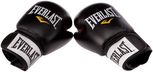 Everlast Erwachsene Boxartikel 6000L Moulded Foam Training Gloves Leather, Black, 12, 057309 0302
