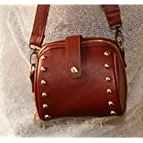 Woodmin Retro Camera PU Leather Case Bag For Fujifilm Instax Mini 25 + Free Shoulder Strap---Brown