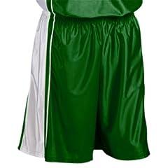 Teamwork Adult Youth Dazzle Basketball Shorts 265-DARK GREEN WHITE A3XL-9 INSEAM by Teamwork