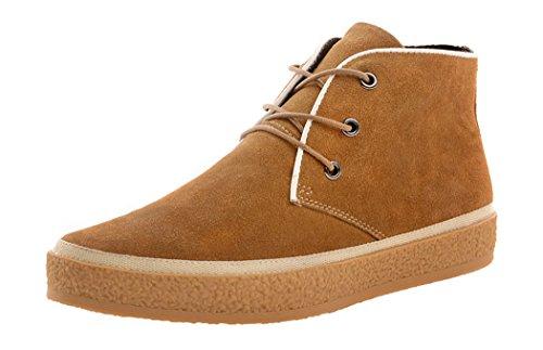 Htarco Men'S Leather Spring Lace-Up Rubber Casual Sport Shoes(8D(M)Us,Chestnut)