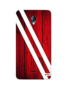 Gobzu Printed Hard Case Back Cover for Micromax Unite 2 A106 - Blood Wood