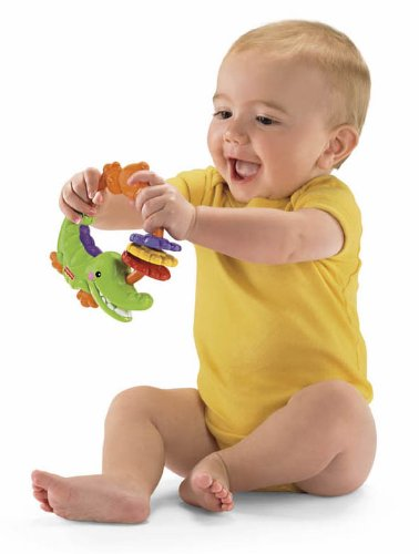 Fisher-Price Precious Planet Clacking Crocodile Toy front-111952