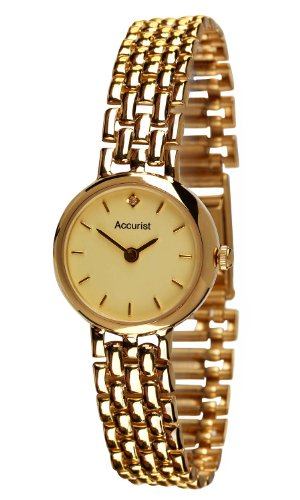 Accurist Ladies 9ct Gold Watch GD2676