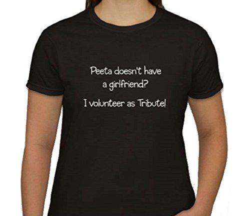 Peeta Doesn't Have a Girlfriend Funny T Shirt (medium)