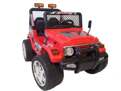 Kt New 12 Volt Ride On Toy Truck Raptor Wrangler Kids Electric Car 2 Motors (Kts618 Red)