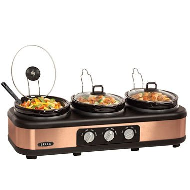 Bella Triple Slow Cooker With Lid Rests