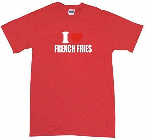 I Heart Love French Fries Little Boy'S Kids Tee Shirt 7T-Red