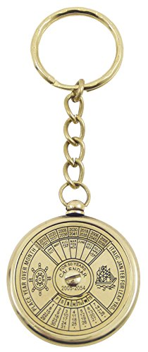 generique-791-50-years-perpetual-calendar-keyring-polished-brass-10-x-35-x-35-cm
