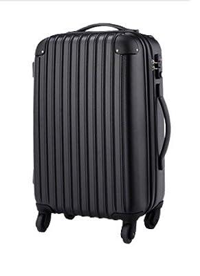 スーツケース・キャリーケース・軽量・小型・TSA・半鏡面仕上げTravelhouse (S, black)