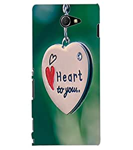 ColourCraft Love Heart Chain Design Back Case Cover for SONY XPERIA M2 DUAL D2302