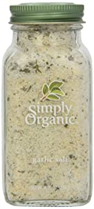 Simply Organic Garlic Salt Certified Organic, 4.7-Ounce Container