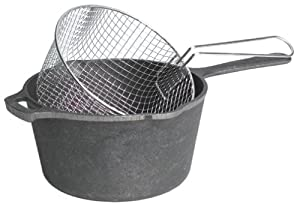 Lodge 2-1/2-Quart Cast Iron Deep Fryer Kit