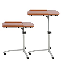 Generic O-8-O-2912-O ital Ta Over Bed Hospital Bed Ho Laptop Desk Cart k Cart Angle & Height g Lapto Table Stand ustable Adjustable Rolling HX-US5-16Mar28-1609
