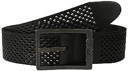 Buffalo Men's Perforated Casual Belt, Black, Small