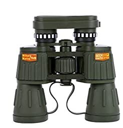 JIATEN Day/Night 10X50 Military Army Binoculars Camouflage w/Pouch Hunting Camping