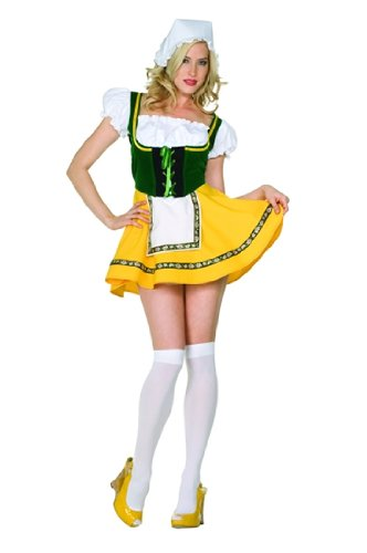 Adult Sexy Beer Garden Girl Costume Size Large (12-14)