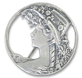 Sterling Silver Victorian Pin