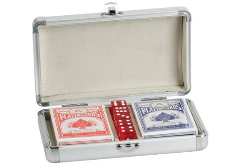 Cards with 5 Dice in Aluminum Case (2 Deck)