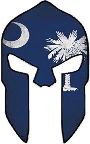 MOLON LABE SOUTH CAROLINA SHAPE FLAG SPARTAN HELMET BUMPER STICKER HARD HAT STICKER LAPTOP STICKER (South Carolina Bumper Sticker compare prices)